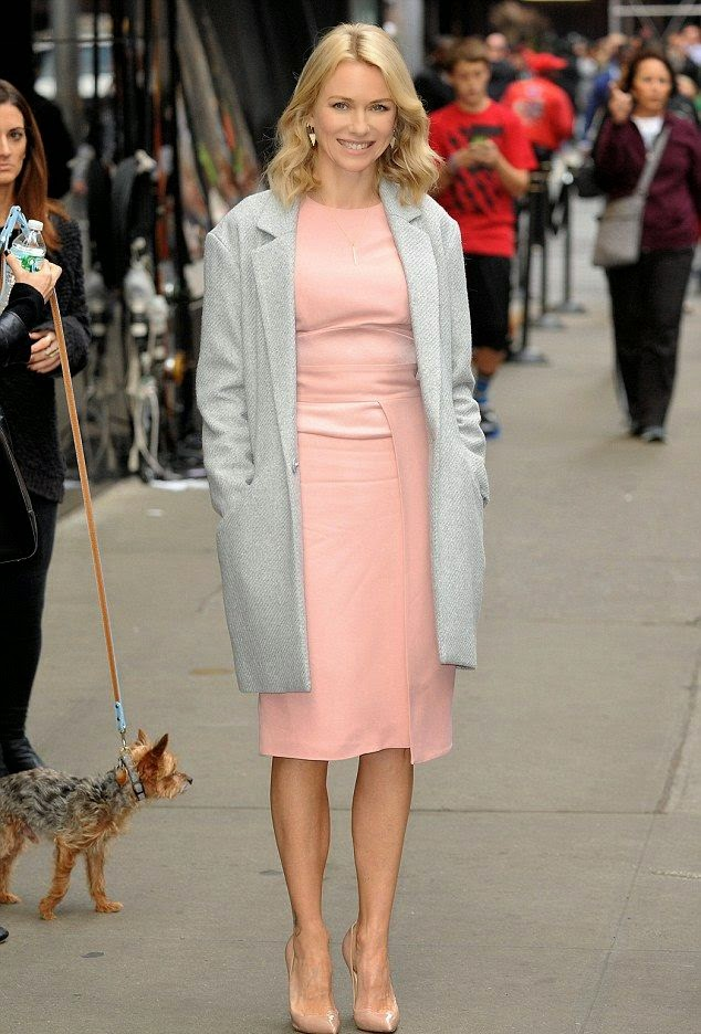 Naomi Watts Visits The Good Morning America In A Pink
