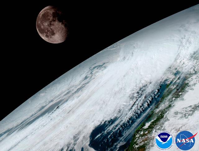 Mặt Trăng được sử dụng để hiệu chuẩn kỹ thuật của vệ tinh. Hình ảnh: NOAA/NASA.