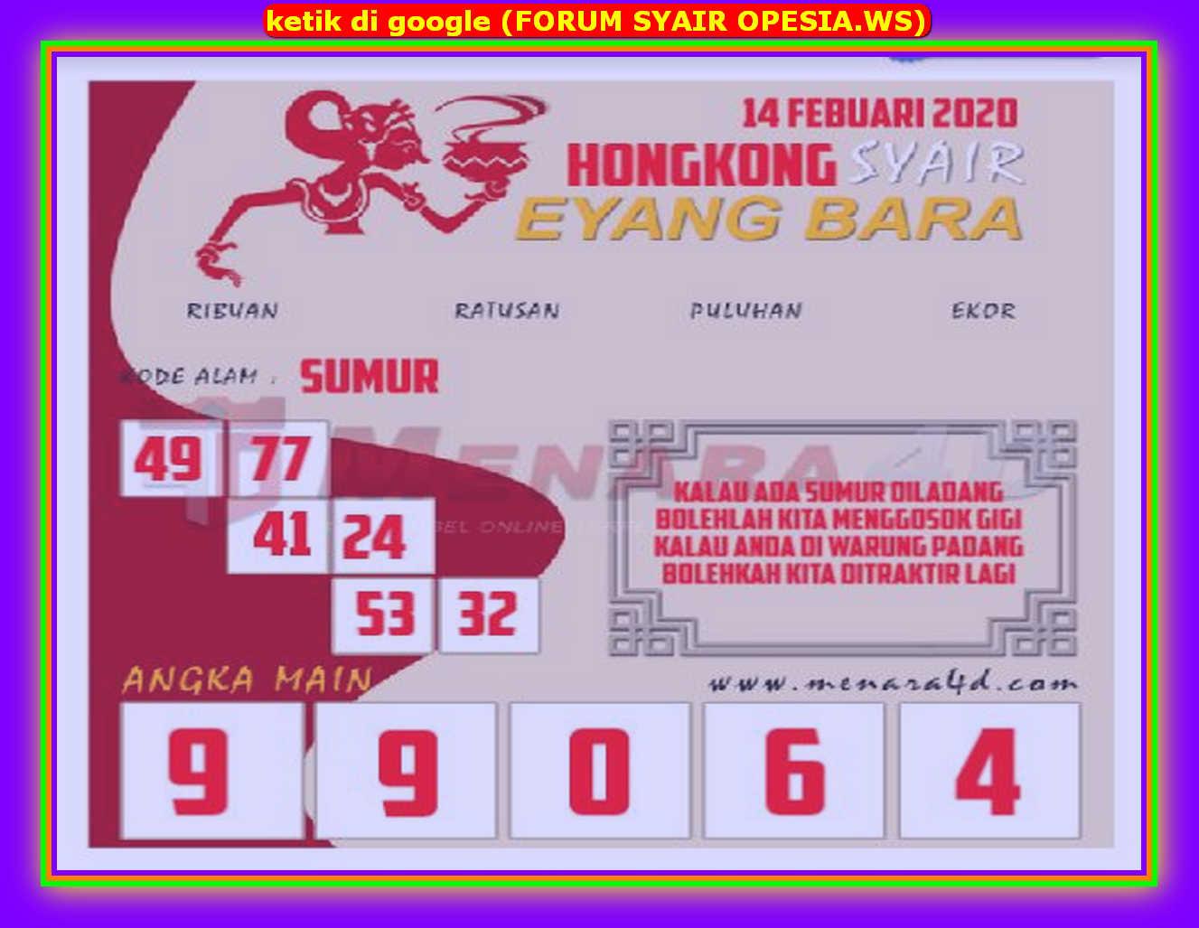 Kode syair Hongkong Jumat 14 Februari 2020 89