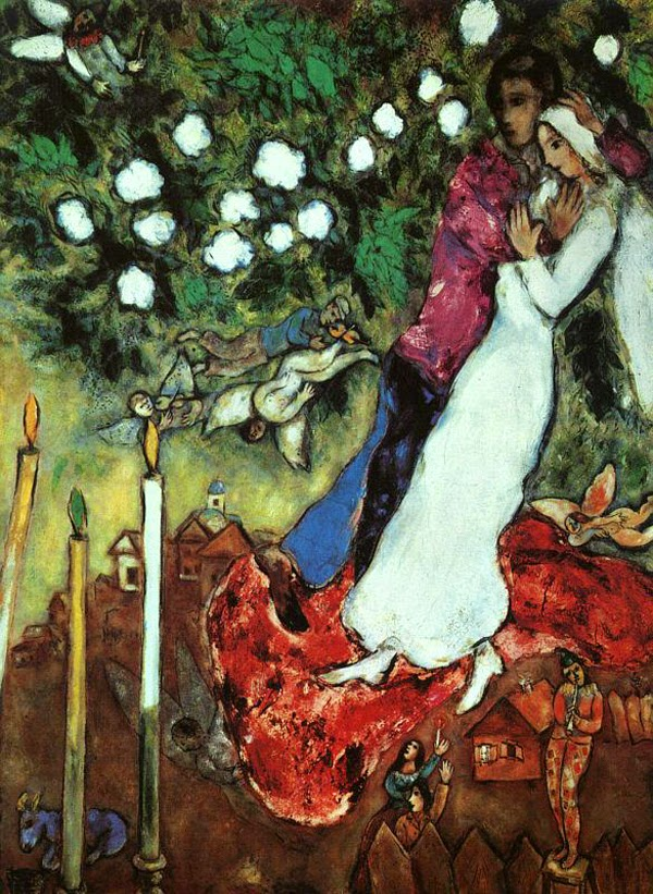 As Três Velas - O Surrealismo glorioso de Marc Chagall