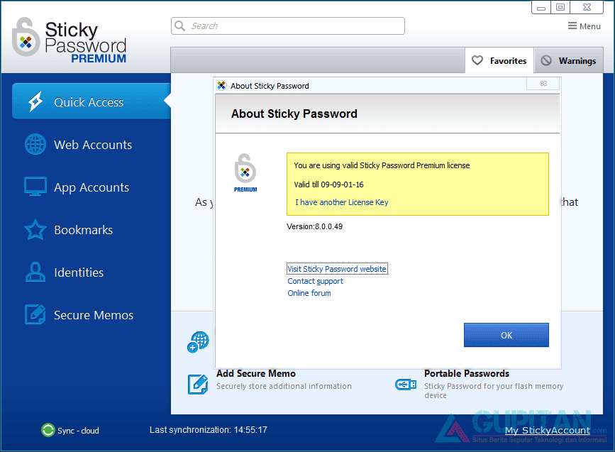 Sticky Password Premium 8 Gratis