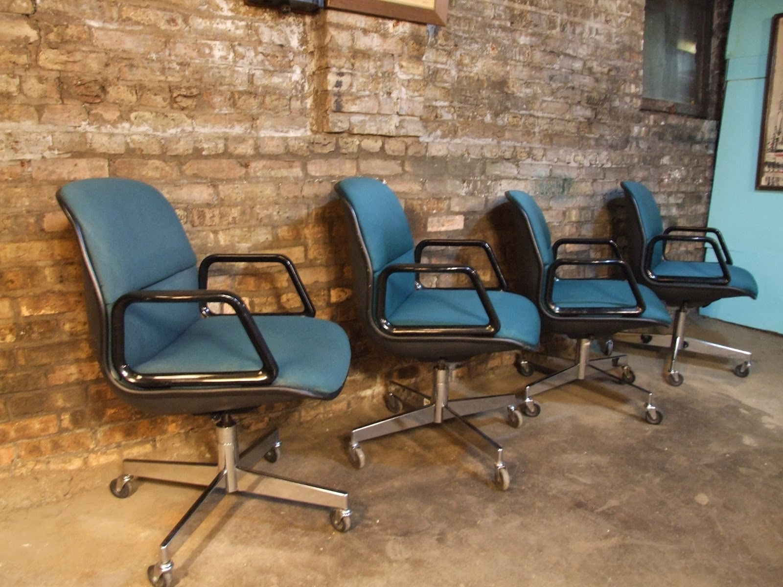 allsteel relate side chair white covers with black sash mid century chicago set of 4 desk chairs