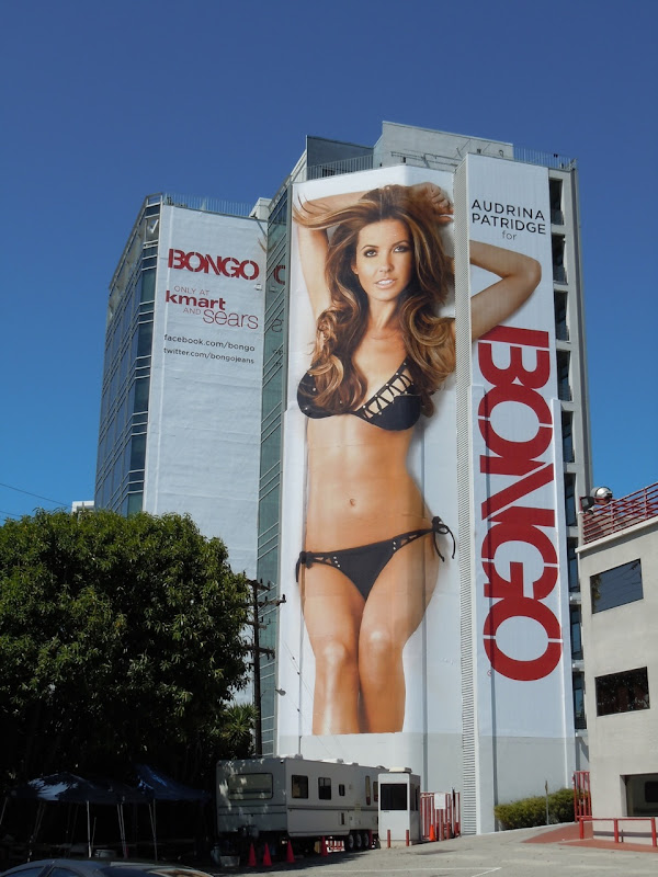 Giant Audrina Patridge bikini billboard