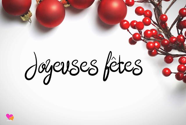 Jolie carte de vœux joyeuses fêtes : noël & Nouvel an