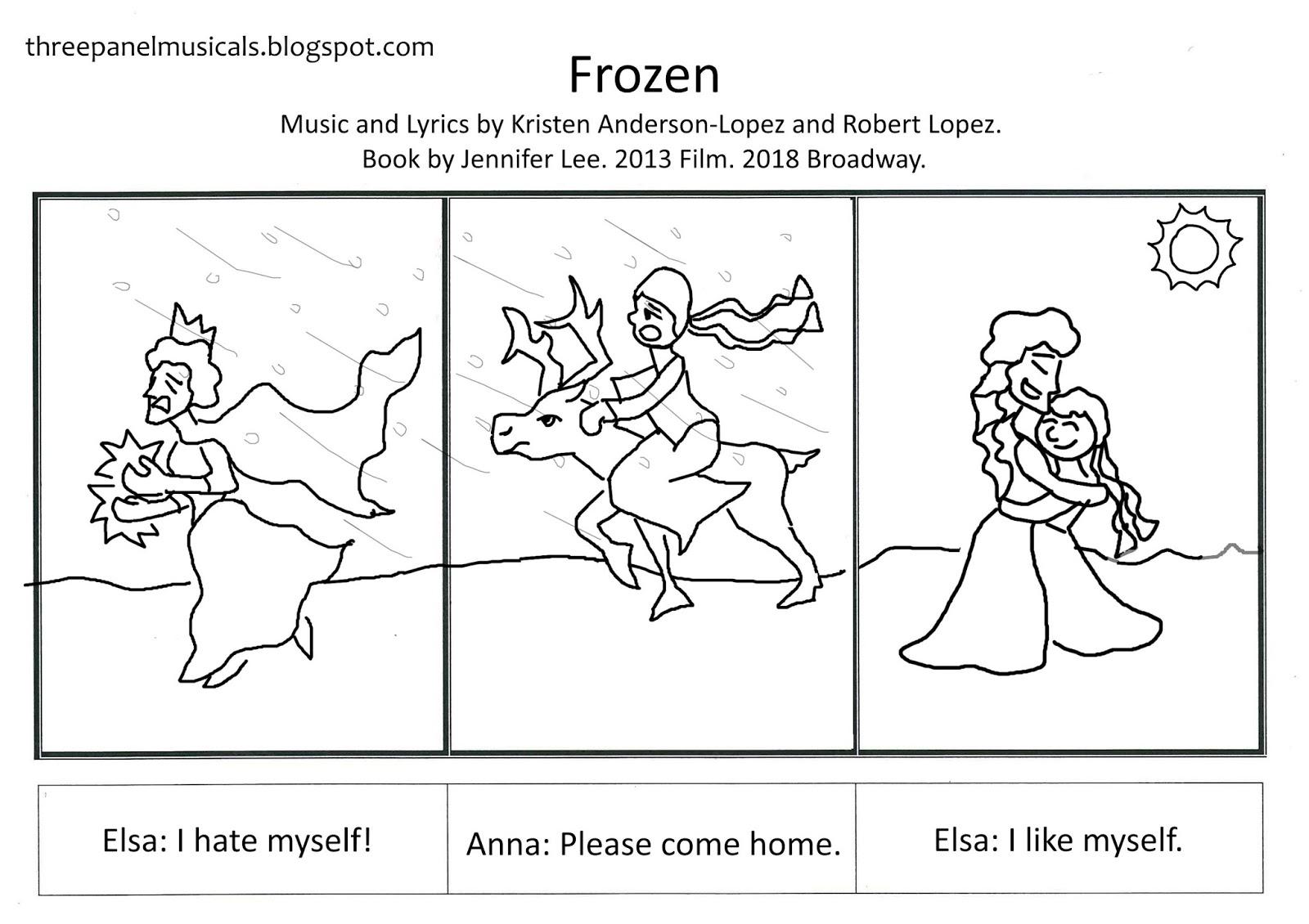 Three Panel Musicals Frozen S Three Act Structure