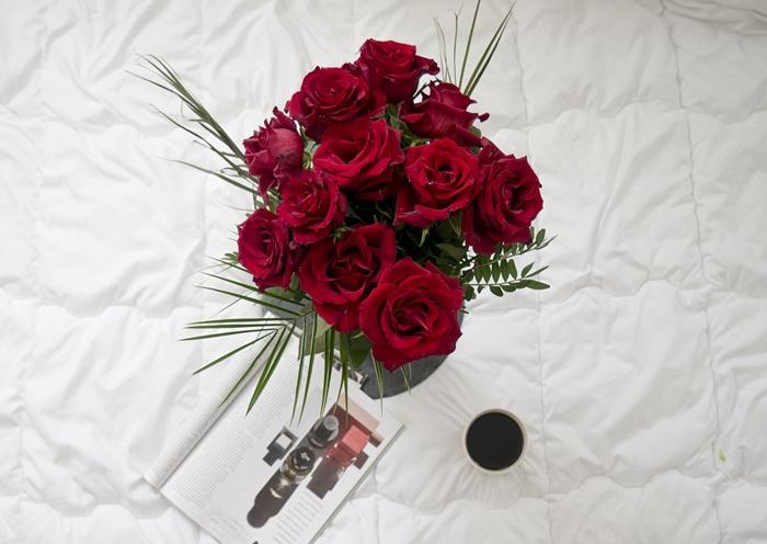 róże flatlay