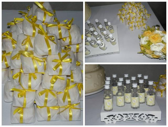 Casamento Amarelo e Branco - Lembrancinhas - Bem casado