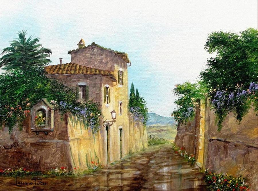 Imágenes Arte Pinturas: Casas Antiguas Y Coloniales Con