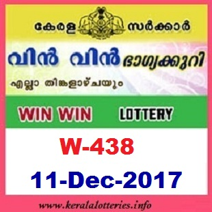 Win Win  W-438 LOTTERY RESULT  on 11.12.2017-