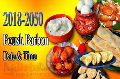 2018-2050 Poush Parbon Puja Date & Time