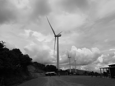 Huawei P9 Sample Camera Shot -Windmill in Black and White