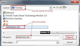 upload file update bios dengan winflash utility