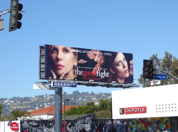 Good Fight CBS series billboard