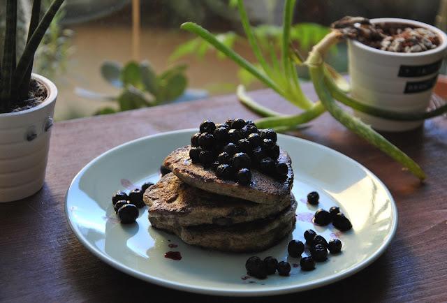 Bananen Pancakes mit Chia Samen