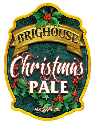 Image shows artwork by Hot Frog Graphics for Christmas Pale beer clip