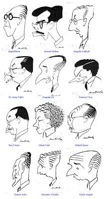 Caricaturas de ajedrecistas de Muntañola