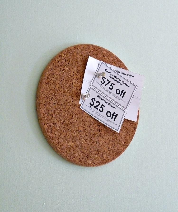 Mini corkboard DIY