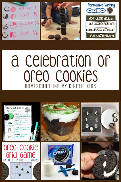 A Celebration of Oreo Cookies // Homeschooling My Kinetic Kids // learning with Oreos // homeschool ideas // study units // cookies in the classroom