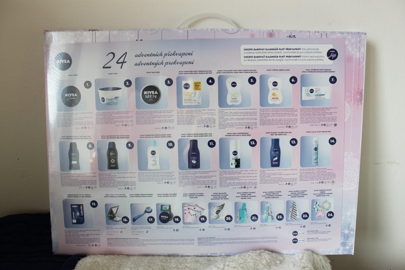 nivea adventni kalendar Adventní kalendáře trochu zblízka   Balea, Nivea   Blogerky.cz nivea adventni kalendar