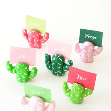 DIY Cactus Place Card Holders
