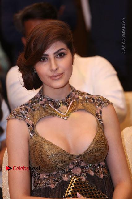 Actress Model Naaz Norouzi Pos in Leg Spit Dress at SIIMA Short Film Awards 2017  0021