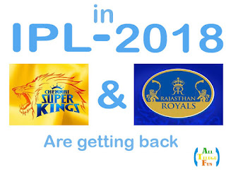 CSK and RR into IPL again