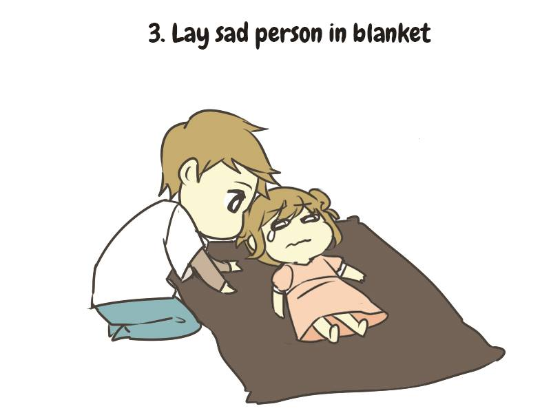 How To Care For A Sad Person (Comic)