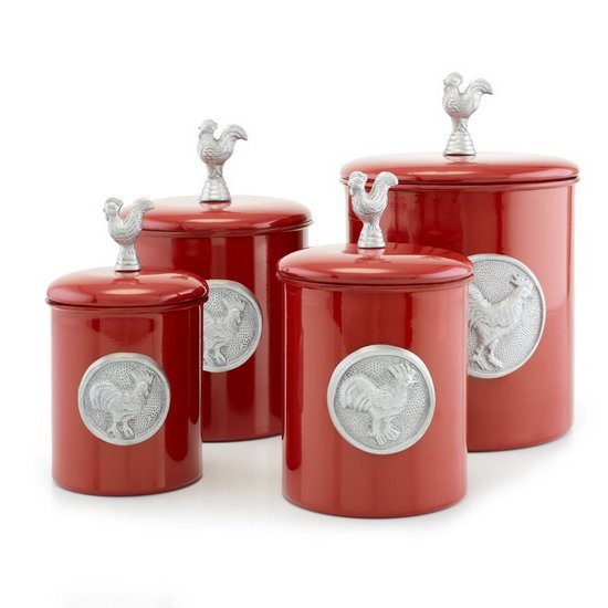 Red Canister Set For Kitchen