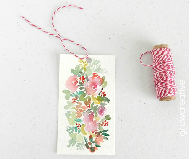pretty watercolor christmas gift tags: grow creative blog