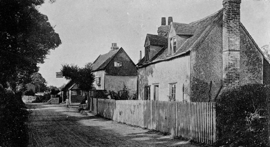 Photograph of The Old Maypole, Water End c1900