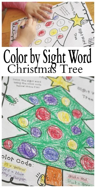 printable color by sight word