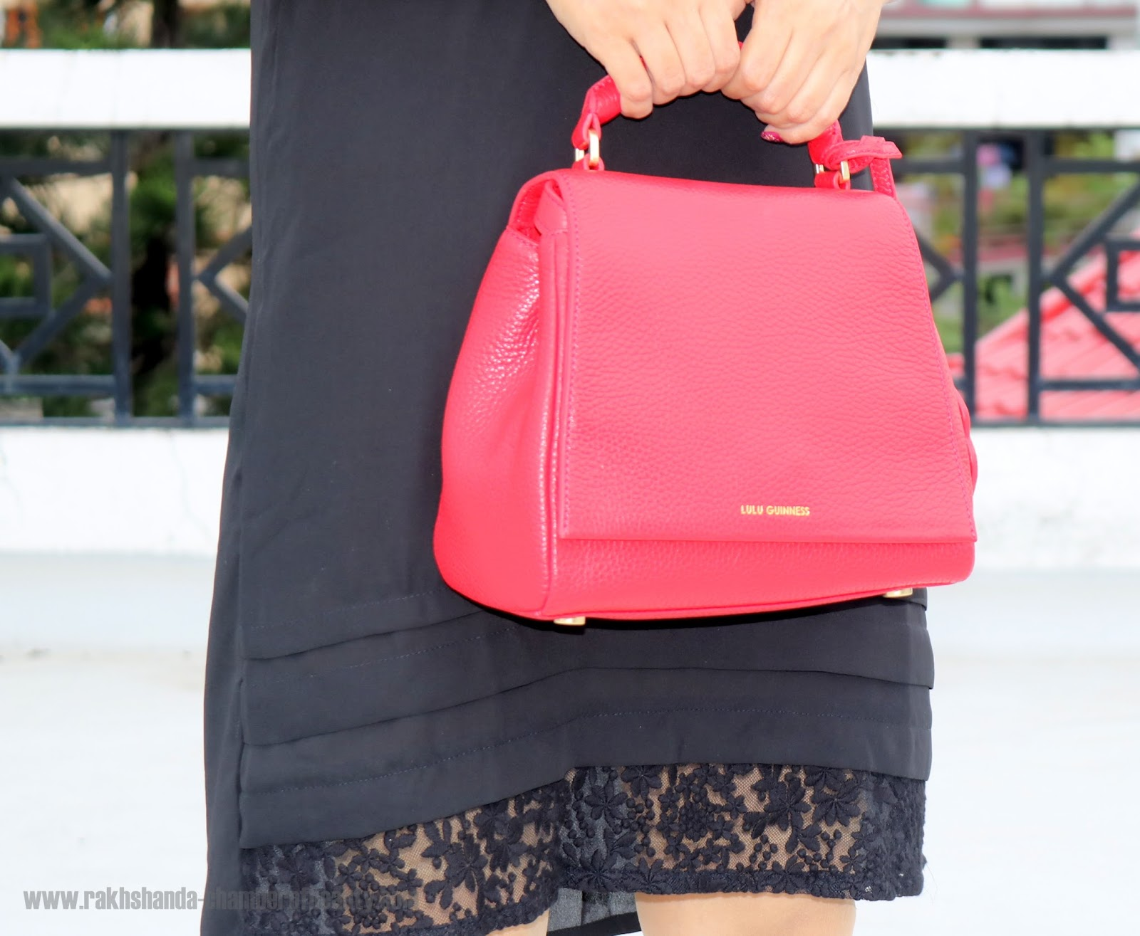 How to style an LBD, Lulu Guinness bags, Indian fashion blogger, Chamber of Beauty
