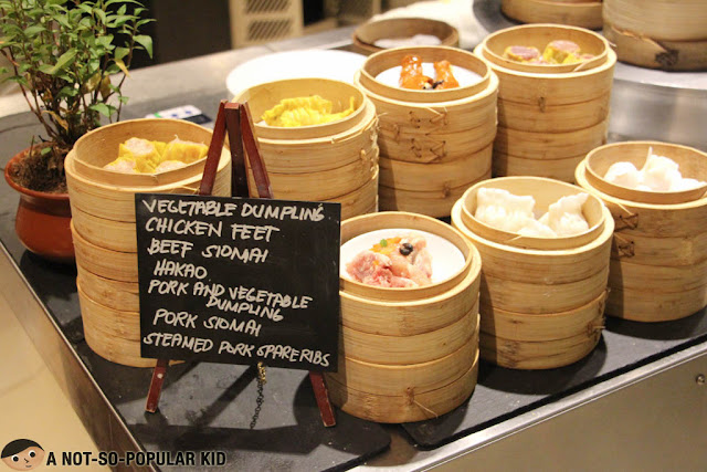 Chinese Dimsum in The Cafe of Hyatt Hotel