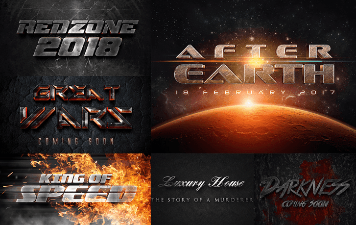 3D Cinematic Text Effects - Free Resource for Graphic Design