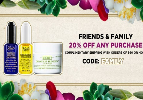 Kiehls 20% Off Friends & Family Event Promo Code