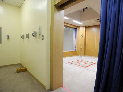 Gallows and control room at Tokyo Detention Center