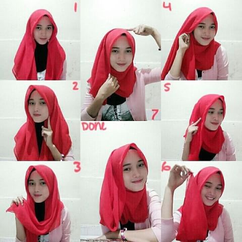 tutorial hijab kerudung segi 4