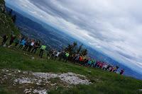 Participants des Stages Euronordicwalk Verors 2016 arrivés en haut