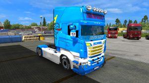 Blue Lady skin for Scania RJL