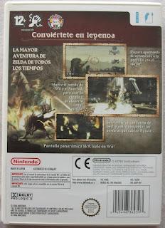 The Legend of Zelda - Twilight Princess - Caja detrás