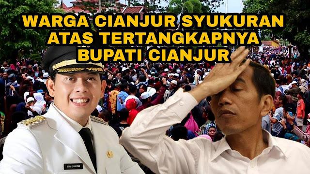 Rayakan Operasi Tangkap Tangan Bupati Cianjur, Masyarakat Berkumpul di Alun-alun untuk Syukuran