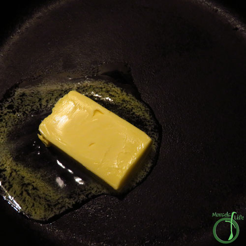 Morsels of Life - Garlic Butter Shrimp Step 2 - Melt butter.