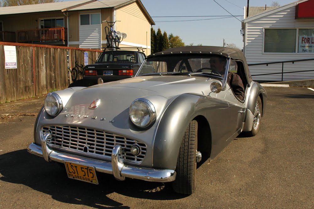 Old Parked Cars 1959 Triumph Tr3a