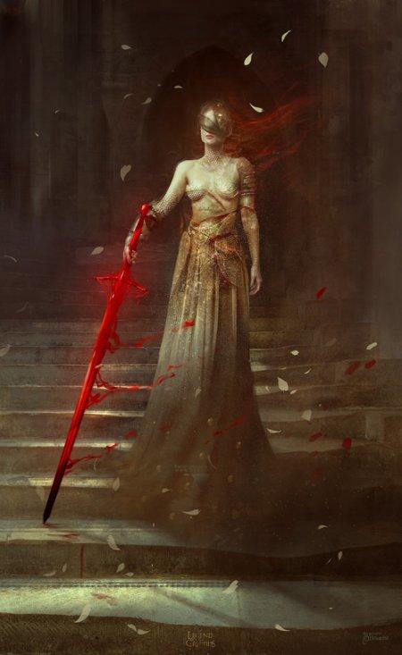 Bastien Lecouffe Deharme artstation ilustrações fantasia sombria games mulheres medieval terror