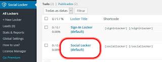 configurar Locker Social no wordpress