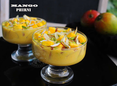 phirni recipe mango phirni mango desserts mango recipes ripe mango recipe mango puree recipe ayeshas kitchen sweets desserts recipes