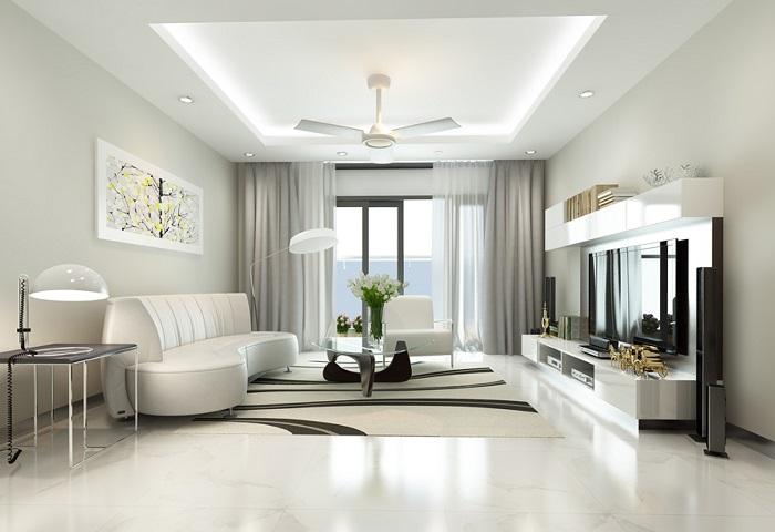 Nội thất và cách thiết kế không gian rộng rãi tại chung cư Roman Plaza