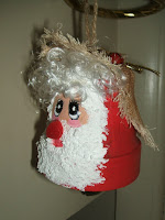Santa clay pot ornaments