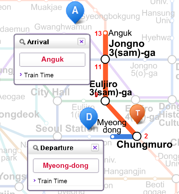 Korea Subway Map Line 5.How To Get To Insadong From Myeongdong Seoul
