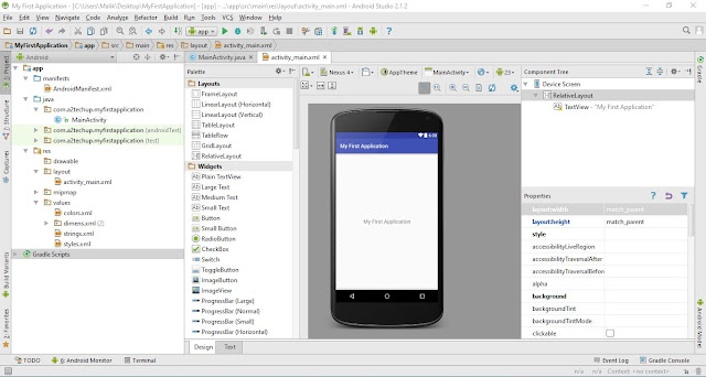 First Android Project, Android Studio